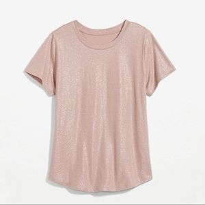 NWT Old Navy Pink Shimmer Cotton T-Shirt